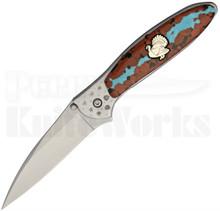 Brian Yellowhorse Custom Kershaw Turkey Leek Knife
