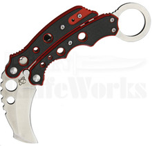 Mantis Vuja De Red Folding Karambit Knife (Satin)