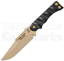 TOPS Knives Team Jackal Survivor Fixed Blade Knife (Tan)