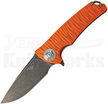 Stedemon Knife Co. DSG Orange Linerlock Knife (Smokewash)