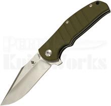 Kizer Vanguard Series Laconico Intrepid Green Flipper Knife (Satin)