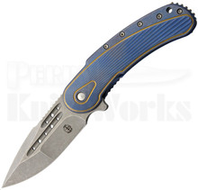 Todd Begg Bodega Beggatti Blue/Gold Sunburst Knife (Tumbled)