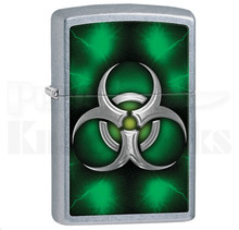 Zippo Biohazard Green Street Chrome Lighter