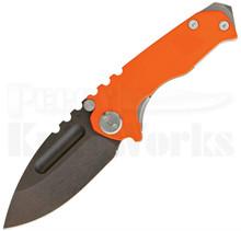 Medford Knife & Tool Micro Praetorian G Orange/Matte Knife (Black Oxide)