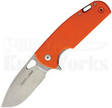 Viper Knives Vox Kyomi Orange G10 Framelock Flipper Knife (Stonewash)