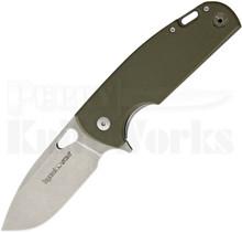 Viper Knives Vox Kyomi Green G10 Framelock Flipper Knife (Stonewash)