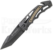 Smith & Wesson Border Guard Tanto Point Knife (Black Stonewash)