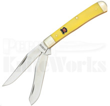 Robert Klaas Yellow Delrin Modified Trapper Knife (Satin)