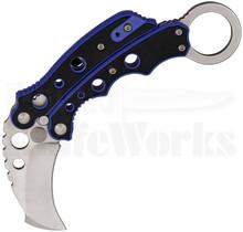 Combat Ready Blue Karambit Butterfly Knife