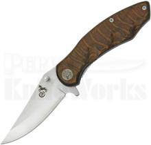 Colt Grooved Pakkawood Wood Linerlock Knife CT261