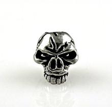 Schmuckatelli Emerson Skull Bead Jumbo (Pewter)