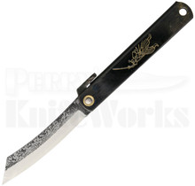 Nagao Higonokami Black Friction Folder Knife (Hammer Finish)