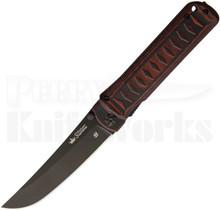 """Kizlyar Supreme Whisper Linerlock Knife Black/Red G10 (3.75"""" Black)"""