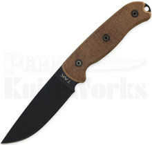 "Ontario TAK-1 Fixed Blade Knife Tan Micarta (4.50"" Black) 8602"
