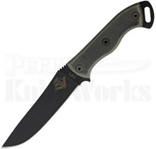 "Ontario Ranger TFI Knife Fixed Blade Knife Black Micarta (5.25"" Black)"