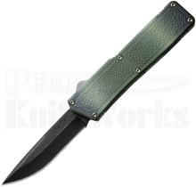 """Lightning Camo D/A OTF Automatic Knife (3.25"""" Black)"""
