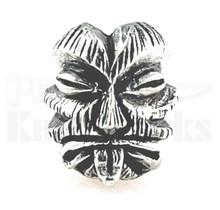 Schmuckatelli Kiko Tiki Skull Bead Pewter