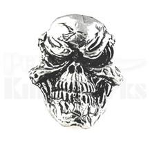 Schmuckatelli Grins Skull Bead Pewter $3.90