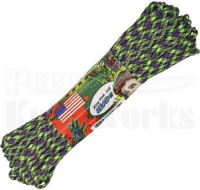 Atwood Rope Mfg. 550 Lb. 7-Strand Zombie Edition Paracord 100 Ft. Zombie