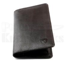 Guard Dog Premium Leather Large Ultra Slim RFID Wallet (Black)