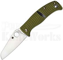 Spyderco Caribbean Knife Black/Yellow G-10 Sheepsfoot C217GPSF