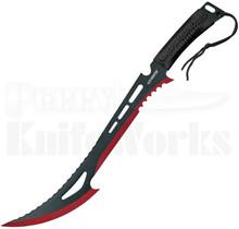 """Z-Hunter 24"""" Black & Red Machete ZN-020BR"""