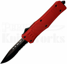 Cutting Edge Heretic Red D/A OTF Automatic Knife 2-Tone Serrated Blade