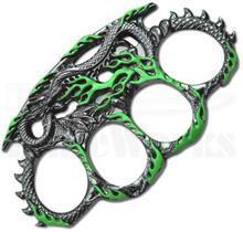 Master Cutlery Dragon Belt Buckle Knuckles (Green) PK-2443GN
