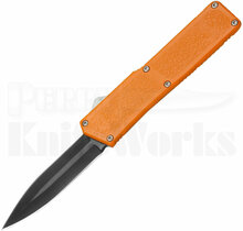 Lightning Orange D/A OTF Automatic Black Double Edge Knife