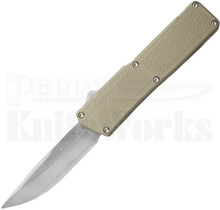"Lightning Tan D/A OTF Automatic Knife 3.25"" Satin"