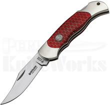Boker Boyscout Red Honeycomb Lockback Knife 112602