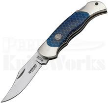 Boker Boyscout Blue Honeycomb Lockback Knife 112603
