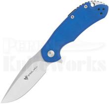 Steel Will Cutjack Mini Blue G10 Flipper Knife C22M-2BL