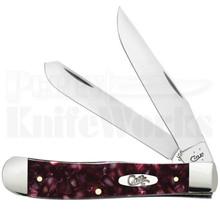 Case XX Cranberry Kirinite Trapper Knife