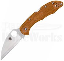 "Spyderco Delica 4 Wharncliffe Sprint Run Knife Orange (2.9"" Satin)"