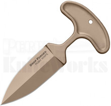 """Cold Steel Drop Forged Push Dagger Fixed Blade Knife (4"""" Tan) 36ME"""
