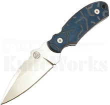 Nemesis Knives Arch Ally Fixed Blade Knife Blue