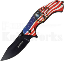 MTech USA American Flag Assisted Knife MT-A1025A