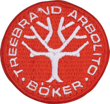 Boker Tree Brand Logo Patch Red & White