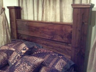 Walnut Gun hiding quick draw Headboard