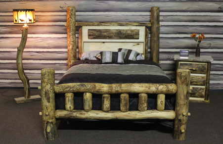 Log Gun bed Made by Mountain woods furniture.