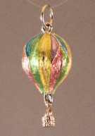 Multi color pendant with silver bale