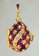 Purple pendant with Gold bale