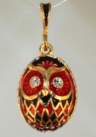 Red,Black and Gold Wise Owl