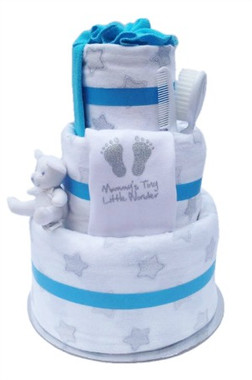 baby boy star nappy cake