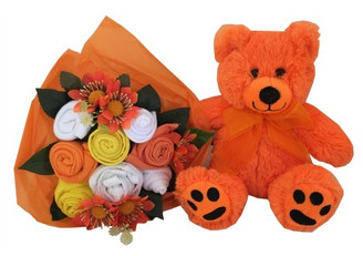 Bright bouquet and Teddy