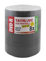 DVD-R JVC Taiyo Yuden 8x VALUE LINE White Inkjet Hub Printable 100pk