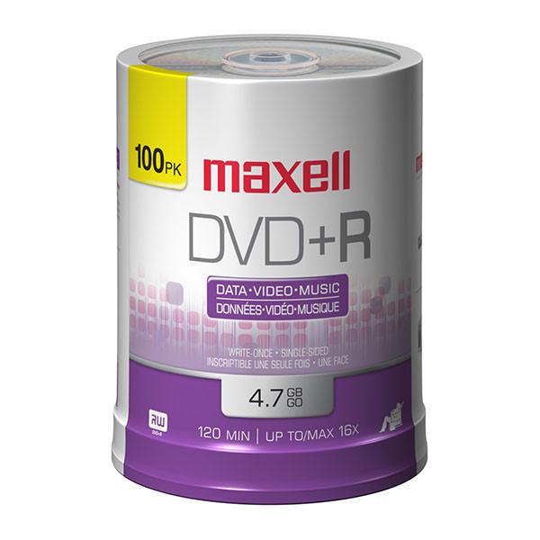 Maxell DVD+R 16x Branded 100pk