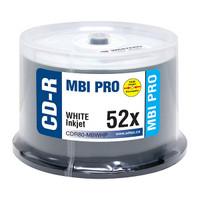 MBI Pro CDR White Inkjet Hub Printable 100pk