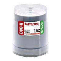 DVD-R JVC Taiyo Yuden 16x Shiny Silver Lacquer 100pk